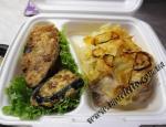 Курица По-французски с Язычками из баклажан